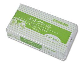 エルヴェールエコセレクト ペーパータオル 1パック200枚入り【再生紙】サイズ:230×210
