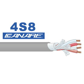 CANARE 4S8 100m 灰色 スピーカーケーブル 安心の日本正規品!