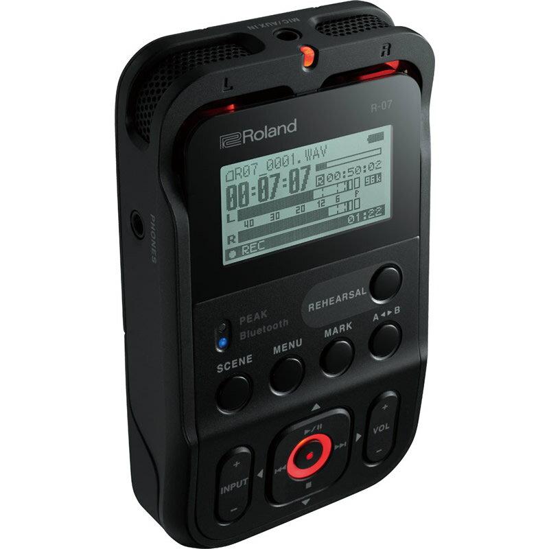 ROLAND R-07 BK ブラック 【16GB microSDHCカードプレゼント!】