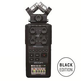 ZOOM H6 / BLACK ブラック 高音質・業務向け本格ハンディレコーダー!