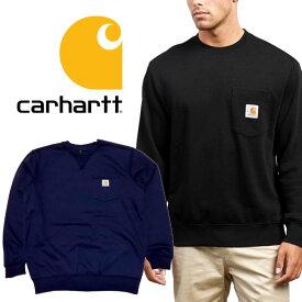 カーハート carhartt クルー スウェット トレーナー 103852 メンズ レディース Loose Fit Midweight Crewneck Pocket Sweatshirt ネイビー ブラック 裏起毛 S M L 定番 送料無料 楽天 通販 宅配便