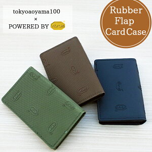 【50%OFF】 CARD CASE Vibramシート マグネット付フラップ カードケース 名刺入れ かっこいい ビブラム 滑りにくい TAVC-001 あす楽対応