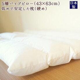 枕 肩こり の女性におすすめ パイプ 〜 低め 硬め フラット /NEW5層 パイプ枕 送料無料 日本製 おまかせピロケース プレゼント