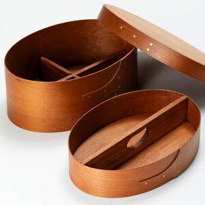 裁縫道具入れ シェーカーソーイングボックス 2段 シェーカーボックス Homestead 木製 チェリー材 天然木 北欧 ナチュラル アクセサリーケース 小物入れ 木箱 Homestead