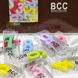 \X'masラッピング無料/数字 キャンドル BCC ナンバーキャンドル パステル 誕生日 記念日 【あす楽対応】