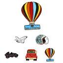 メール便送料無料!ピンバッジ ラペルピン バッジ ピンズ ブローチ 乗り物 気球 スペースシャトル ヘルメット…