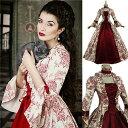 宮廷服 貴族衣装 ステージ衣装としても最適 お姫様ドレス 中世貴族風 ハロウィンHalloween 大きいサイズ ドレス コス…