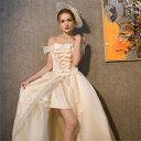 【期間限定!マスクプレゼント中】【フリーサイズ】オフショルダードレス ステージ 衣装 お姫様 プリンセスライン 公…