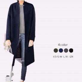 【サイズXS/S/M/L/XL/2XL】チェスターコート レディース コート ロング コート アウター 中綿コート コート 小さいサイズ チェスターコート 大きいサイズ 冬服 フォーマル あったか 綺麗な大人シルエット ブラック カーキ ネイビー dd299l2l2g4/代引き不可