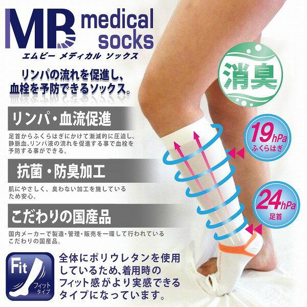 弾性ストッキング メディカルソックス 医療用 一般医療機器 フィットタイプ選べる5サイズ(SS/S/M/L/LL)