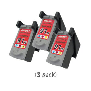 【ポイントアップ中!】【即納】キャノン BC-91(3色カラー)[3個入][CANONリサイクルインク]PIXUS iP1700 iP2200 iP2500 iP2600 MP170 MP450 MP460 MP470【あす楽対応】【安心保証】【送料無料】10P03Dec16