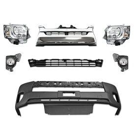 ハイエース 200系 4型 LEDヘッド フロント 7点 セット Ver,1 オプション ヘッド クリア 純正タイプグリル フェイスチェンジ