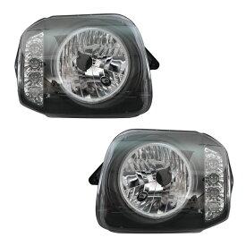 ★13131 JB23 ジムニー ヘッドライト CCFLリング付き LED ウィンカー インナーブラック 左右セット 同梱不可