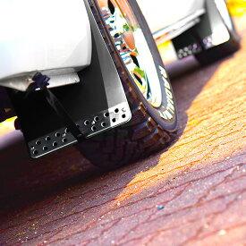 ◆26810 ハイエース 200系 大型 マッドフラップ マッドガード ブラック 泥除け 1台分セット 同梱不可