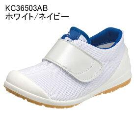 【7/14 23:59マデポイント5倍★Fashion THE SALE】アサヒ健康くん 502A ホワイト/ネイビー KC3650AB キッズ・ジュニア(15.0〜25.0cm/3E) アサヒ靴