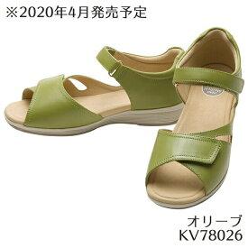 【アサヒシューズ直営店/ASAHISHOES】ひざのトラブルを予防するSHM機能つき アサヒメディカルウォーク SL オリーブ KV7802 サンダル レディース(21.5〜25.0cm/3E) アサヒ靴 【送料無料】