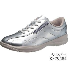 【ポイント5倍】アサヒ L511 シルバー KF7958 カジュアルアサヒシューズ レディース(22.0〜25.0cm/4E) アサヒ靴