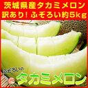 メロン 訳あり 送料無料 ふぞろいのタカミメロン約5kg 茨城県産 果物 フルーツ