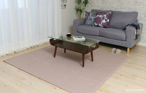 ラグカーペット*コットンキルトサイズ:130×185cm(1畳)■敷物マットナチュラル綿北欧洗える床暖対応ホットカーペット対応