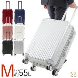 スーツケースMサイズ容量63L3〜5泊TSAロック付きキャリーバッグ軽量4輪ファスナータイプSunruckブラックSR-BLT028-BK
