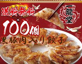 急上昇 黒豚肉入り 冷凍餃子 100個 送料無料 業務用 おかず ビール sale 工場直売