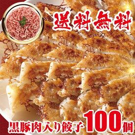 急上昇 黒豚肉入り 冷凍餃子 100個 送料無料 業務用 おかず ビール 工場直売