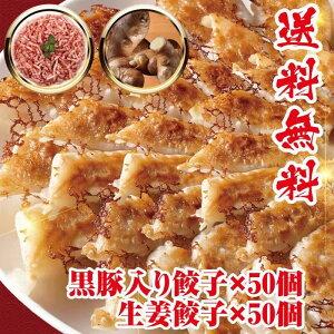 急上昇 黒豚肉入り50個 生姜餃子50個 冷凍餃子 送料無料 業務用 おかず ビール 工場直売