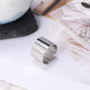 ステンレス ワイドリング 幅1.4cm 指輪 幅広 太い シンプル 平打ち レディース メンズ 金属アレルギー対応