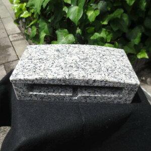 横置き 横型 寝かせる 小さい香炉 軽い 高さ7cm G623御影石 重さ3.0kg 網付き 送料込み!