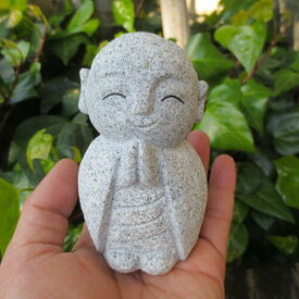 おじぞうさん おじぞうさま かわいいGZ39 癒しのお地蔵さん 置物 地蔵菩薩 仏像 彫刻品 みかげ石 送料無料!