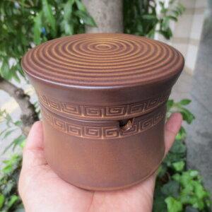 蓋つき フタ付 陶器 ふた付き 灰皿 ブラウン おしゃれ 分割 セパレート