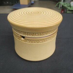 蓋つき フタ付 陶器 ふた付き 灰皿 ベージュ おしゃれ 分割 セパレート