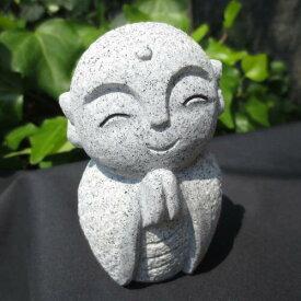 おじぞうさん おじぞうさま かわいい 癒しのお地蔵さん 置物 地蔵菩薩 仏像 彫刻品 みかげ石 GZ43 送料無料!