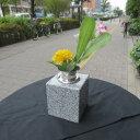 墓石 花立 花瓶 御影石 ステンレス 花筒 ペット墓にも 工事不要 置くだけ G614みかげ石 1個 送料無料!