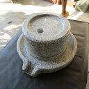石臼 (いしうす) ひき臼 (ひきうす)御影石 25型 31kg 送料無料(沖縄県、離島は除く)