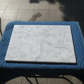 キズあり イタリア産 のし台 こね台 板石 平板 天然 大理石 石板 プレート クッキングボード R加工 600x400x20mm 送料込み!