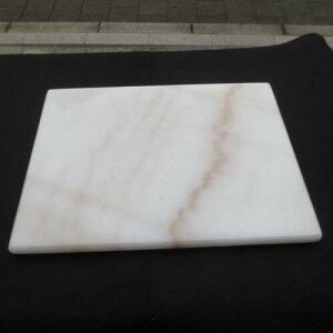 ペストリーボード 天然大理石 400x300x20mm のし台 板石 こね台 中国産広西白 R丸面取り加工 のし板 麺台 平板 石板 プレート