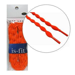 is-fit シューレースノッティー 120cm NT-7オレンジ【靴ヒモ,シューレース,靴ひも.靴紐.くつひも】