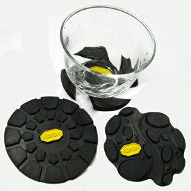ビブラム ラバーコースター ブラック【vibram コップ敷き コップ受け コースター 】
