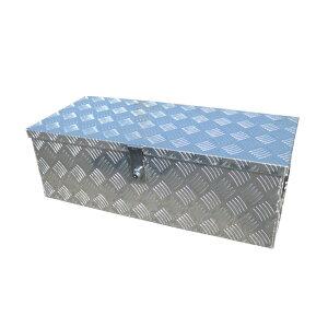 アルミ工具箱 トラック アルミチェッカー製 大型 鍵付き 物置 ツールボックス 工具ボックス 工具箱 収納 ボックス 工具入れ 760×340×250mm