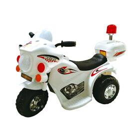 電動バイク 子供用 ポリスバイク 乗用バイク 乗用玩具 電動 充電式 ライト点灯 ミュージック サイレン プレゼント クリスマス 誕生日 こどもの日