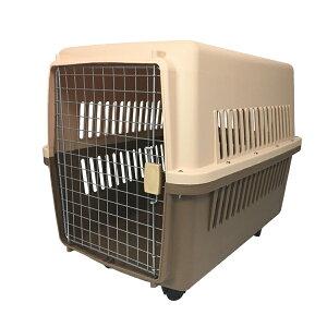 ペットキャリー ケース LLサイズ 中型犬・大型犬用 ハードタイプ 外出用 犬小屋 81×61×56cm キャスター付き
