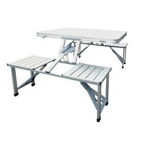 ピクニックテーブル アルミ製 レジャーテーブル アルミテーブル アウトドアテーブル