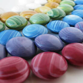 単色約50個入り 選べる6色「蛤(ハマグリ)おはじき」日本製(Tiddlywink、Counter、お弾き、御弾き、オハジキ)