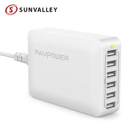 RAVPower USB充電器 (60W 6ポート) USB コンセント 急速 iPhone / iPad / Android 等対応 sl01 mb