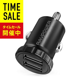 RAVPower カーチャージャー USB (24W 2ポート) iPhone / iPad / Android / IQOS 等対応 sl01