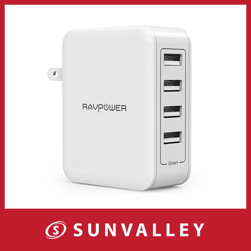 RAVPower USB 充電器 ( 4ポート 40W ) アダプター 急速充電器 iPhone / Android 等対応