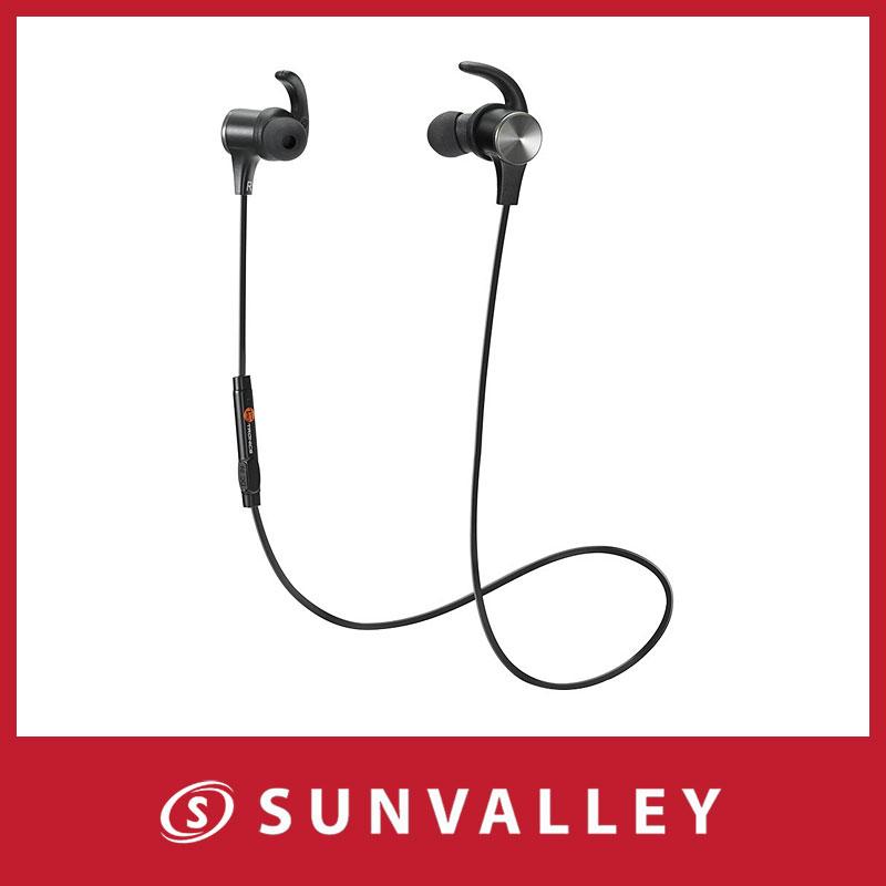 apt-X・AACコーデック対応・防水仕樣 TaoTronics Bluetooth イヤホン 高音質 ワイヤレス ヘッドホン 6時間連続使用 マグネット搭載 CVC6.0ノイズキャンセリング スポーツ仕様