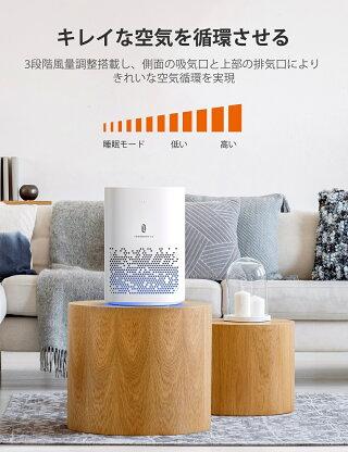 加湿器TaoTronics超音波式加湿器大容量6.0L特許取得の26db超静音デザイン高さ1Mミスト空焚き防止60時間連続加湿LEDライト付き14.5-24畳対応省エネTT-AH025ホワイト