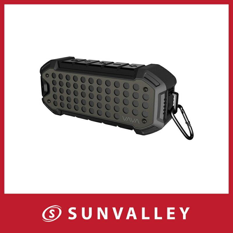 VAVA Bluetoothスピーカー 防水スピーカー アウトドア/野外対応 最大24時間連続再生 IPX6防水規格 Bluetooth 4.1 ポータブル ワイヤレススピーカー 内蔵マイク カラビナ付き VOOM 23